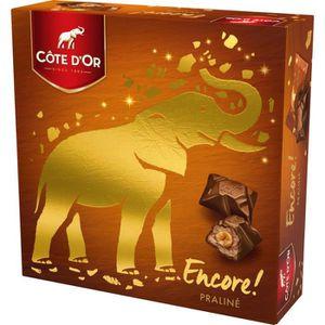 CHOCOLAT BONBON COTE D'OR Encore ! Boîte Chocolats praliné -158g