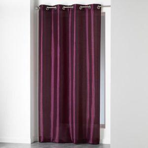 Rideaux violet achat vente rideaux violet pas cher les soldes sur cdiscount cdiscount for Rideau prune
