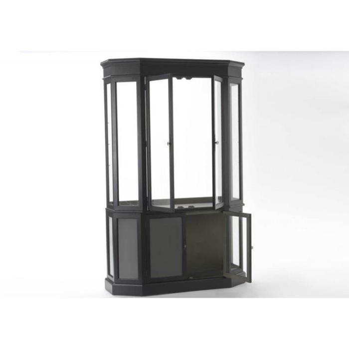 grande vitrine octogonale noir muse noir achat vente vitrine argentier grande vitrine. Black Bedroom Furniture Sets. Home Design Ideas