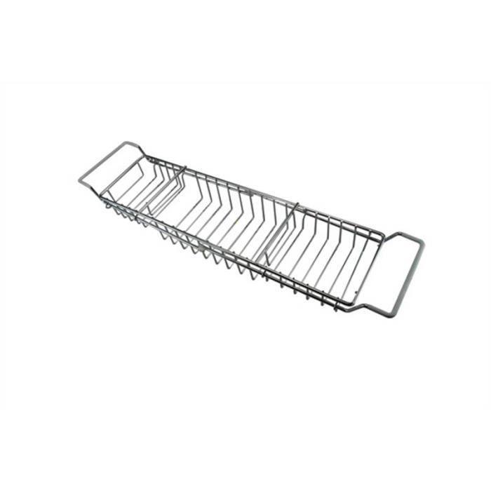 r glable chrome salle de bain baignoire rack pour les. Black Bedroom Furniture Sets. Home Design Ideas
