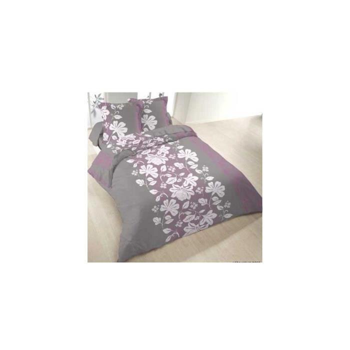 Parure de draps flanelle leda 4 pieces drap plat 240x300 for Parure draps