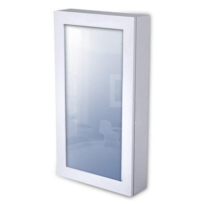 armoire bijoux murale blanche miroir 1401036 achat. Black Bedroom Furniture Sets. Home Design Ideas