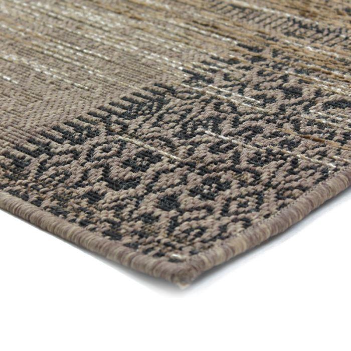 vintage moloch tapis 140x200 brun noir achat vente tapis cdiscount. Black Bedroom Furniture Sets. Home Design Ideas