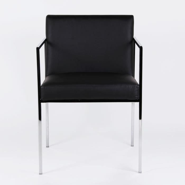 chaise veri noir cuir unique achat vente chaise noir. Black Bedroom Furniture Sets. Home Design Ideas