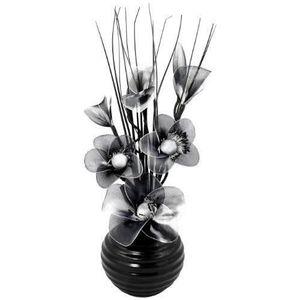 VASE - SOLIFLORE Flourish 813 Ensemble vase et fleurs en nylon Noir