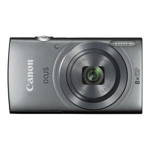 PACK APPAREIL COMPACT CANON IXUS 160 SILVER CARD 8GB + COVER