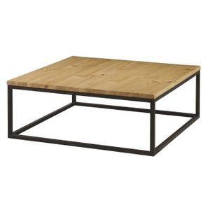 Table basse marron achat vente pas cher cdiscount - Table basse carree bois pas cher ...