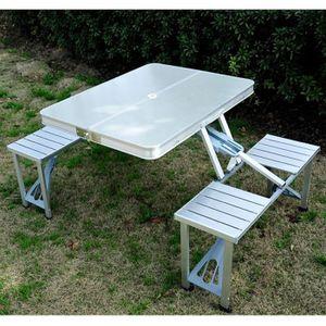 TABLE DE PIQUE-NIQUE Table De Camping Pliante Pique-Nique Aluminium …