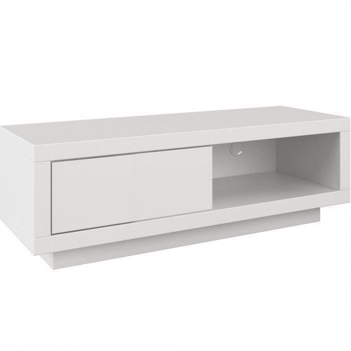Varic l blanc clapet blanc achat vente meuble tv varic for Petit meuble tv blanc