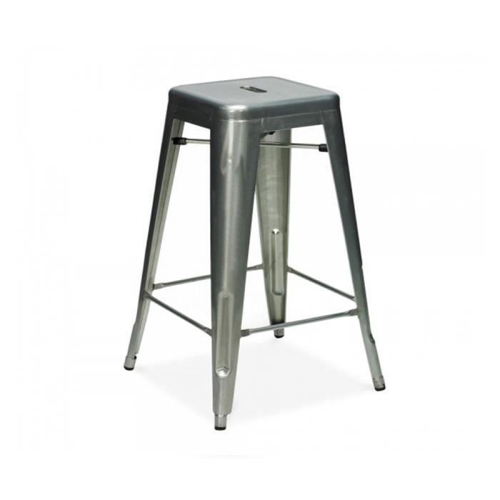 tabouret bistrot gris achat vente tabouret gris cadeaux de no l cdiscount. Black Bedroom Furniture Sets. Home Design Ideas