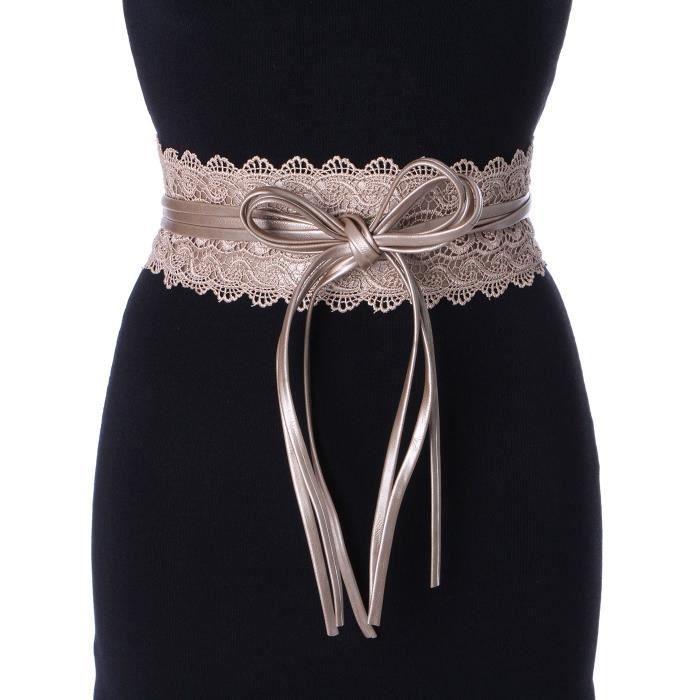 ceinture large en dentelle dor tu achat vente ceinture et boucle 2009954145490 cdiscount. Black Bedroom Furniture Sets. Home Design Ideas