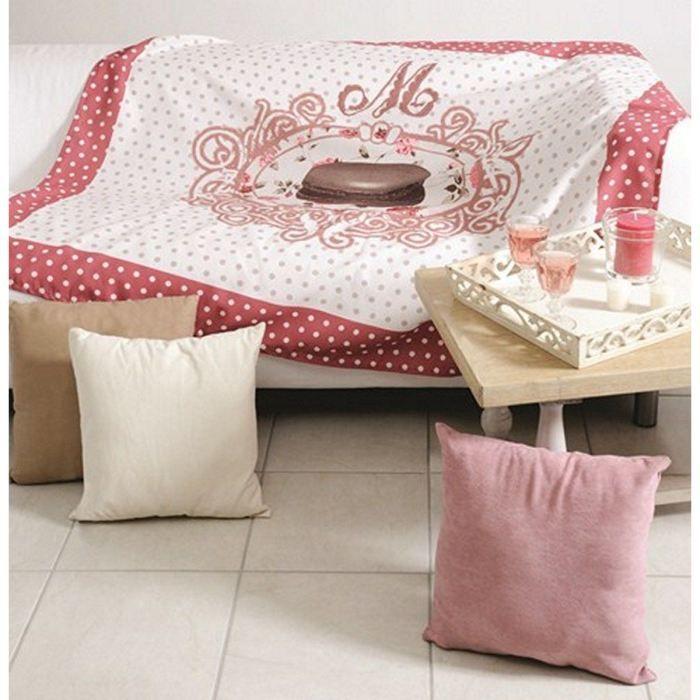 plaid amaretti macaron achat vente couverture plaid. Black Bedroom Furniture Sets. Home Design Ideas