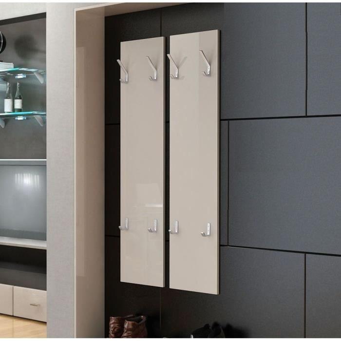 deux porte manteaux sable de 120 cm achat vente porte manteau cdiscount. Black Bedroom Furniture Sets. Home Design Ideas