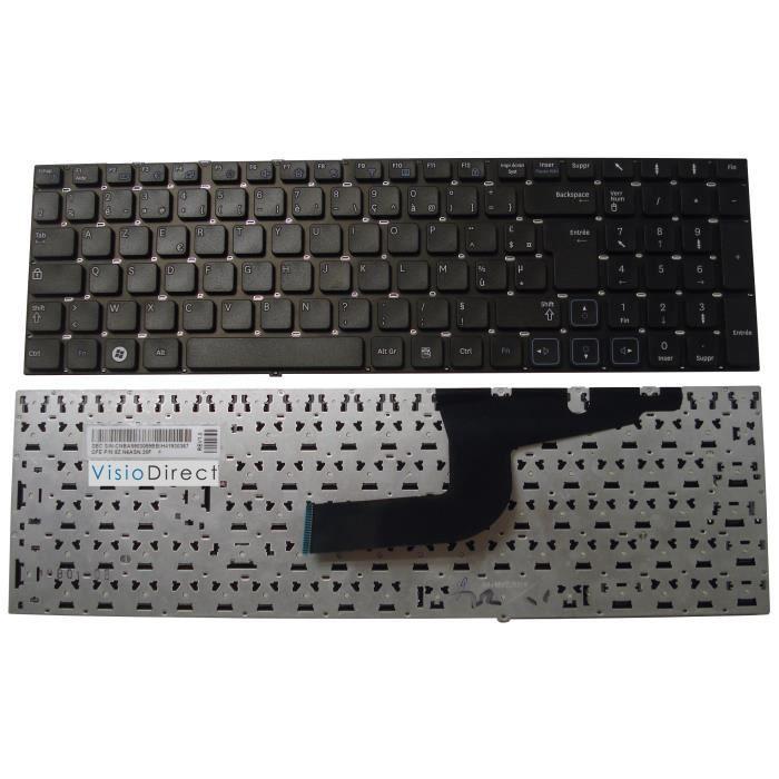 clavier fran ais azerty pour samsung rv711 noir achat. Black Bedroom Furniture Sets. Home Design Ideas