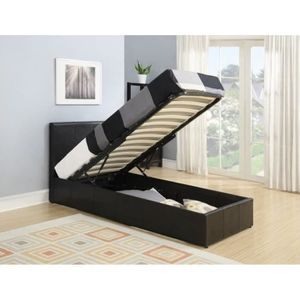 lit gigogne noir achat vente lit gigogne noir pas cher. Black Bedroom Furniture Sets. Home Design Ideas