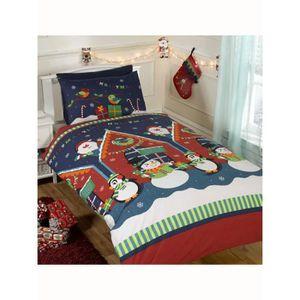 housse de couette noel achat vente housse de couette. Black Bedroom Furniture Sets. Home Design Ideas