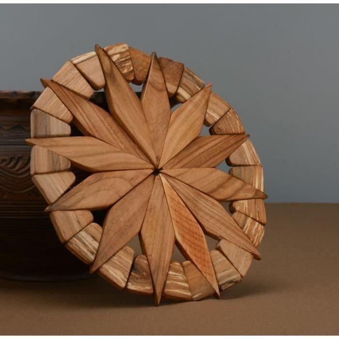 Sous plat original en bois fait main achat vente objet - Sous bassement en bois ...