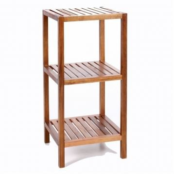 Etag re 3 plateaux bambou meuble de rangement achat for Etagere en bois salle de bain