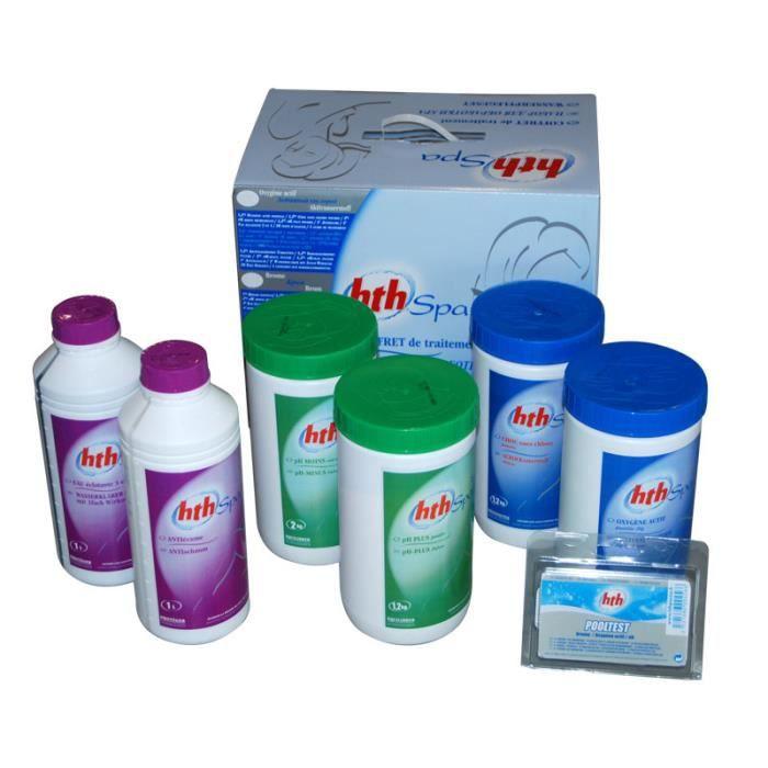 Hth coffret de traitement l 39 oxyg ne actif pour spa for Oxygene actif pour piscine