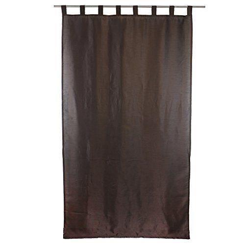 g zze rideau dakar 140x255 cm aspect soie uni marron pr t poser 8 passants bande d. Black Bedroom Furniture Sets. Home Design Ideas