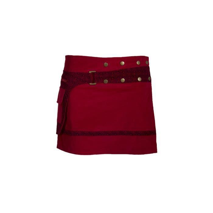 jupe portefeuille en velours Cette mini jupe portefeuille en velours