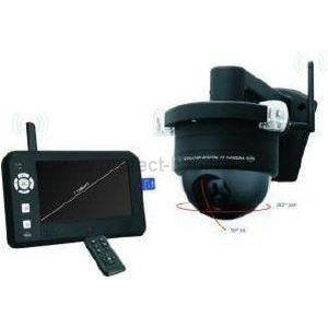 kit cam ra de surveillance s fil cran couleur achat. Black Bedroom Furniture Sets. Home Design Ideas