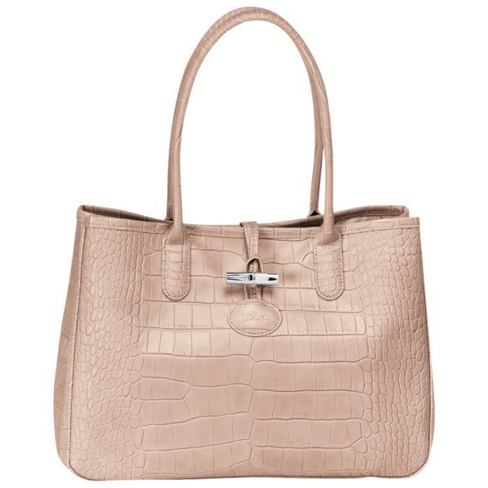 Sac Longchamp Roseau Porté épaule : Longchamp sac ? main femme en cuir port? ?paule