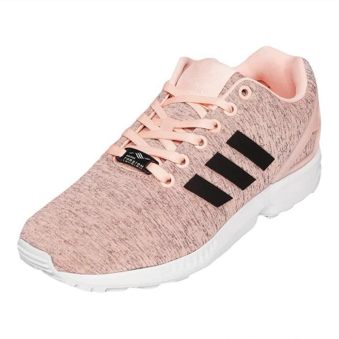 adidas femme chaussures baskets zx flux w rose rose achat vente basket cdiscount. Black Bedroom Furniture Sets. Home Design Ideas