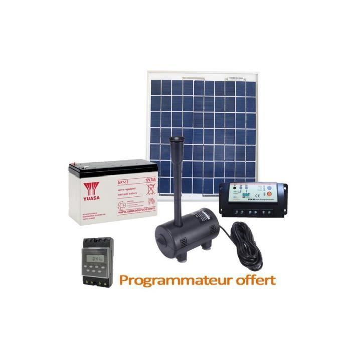 kit complet pompe solaire 470l h avec panneau solaire 7w batterie achat vente pompe. Black Bedroom Furniture Sets. Home Design Ideas