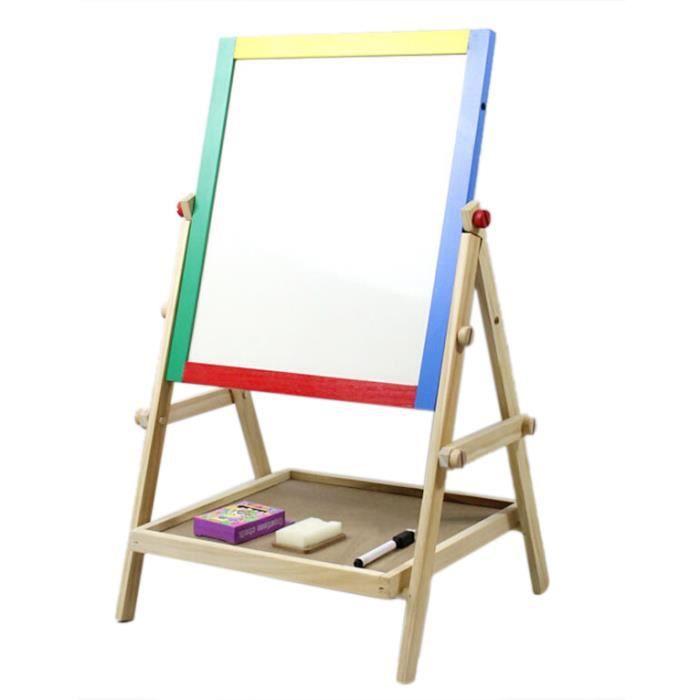 enfants chambre en bois double face chevalet tableau noir tableau d 39 ecole tableau blanc tableau. Black Bedroom Furniture Sets. Home Design Ideas