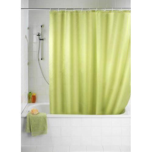 wenko 20038100 rideau de douche en textile vert achat. Black Bedroom Furniture Sets. Home Design Ideas