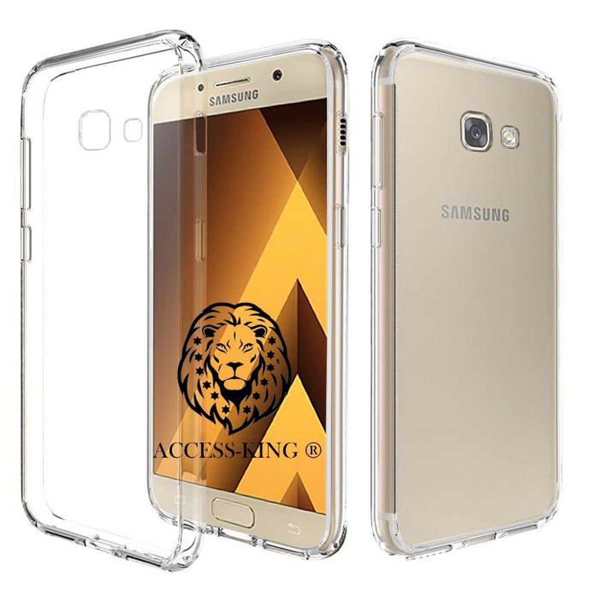 samsung galaxy a5 2017 etui ultra mince housse silicone transparent pour galaxy a5 2017 film. Black Bedroom Furniture Sets. Home Design Ideas