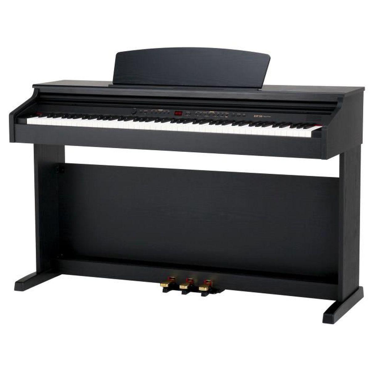 classic cantabile dp 50 sm piano num rique noir d poli pas cher achat vente pack piano. Black Bedroom Furniture Sets. Home Design Ideas
