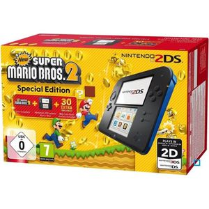 Pack Console 2DS Bleue + New Super Mario Bros 2