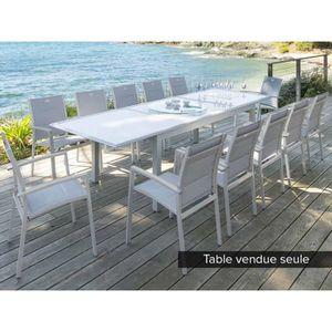 TABLE DE JARDIN  Table rectangulaire extensible AZUA 8 - 12 places
