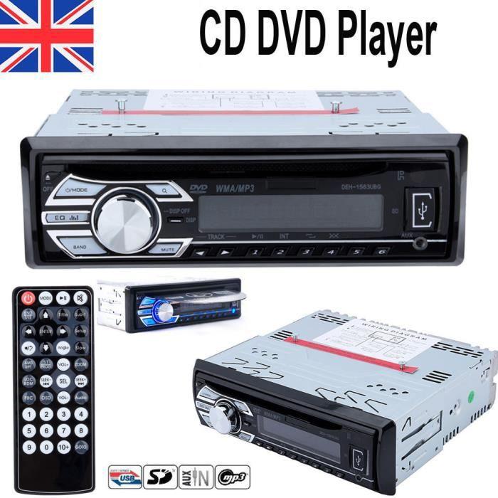 fm st r o radio unit principale sd mp3 usb 1din cd lecteur de dvd aux in voiture autoradio. Black Bedroom Furniture Sets. Home Design Ideas