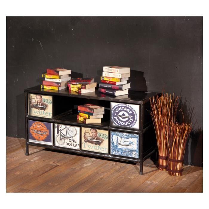 Meubles tv hi fi virando achat vente meuble tv for Meuble hifi 110