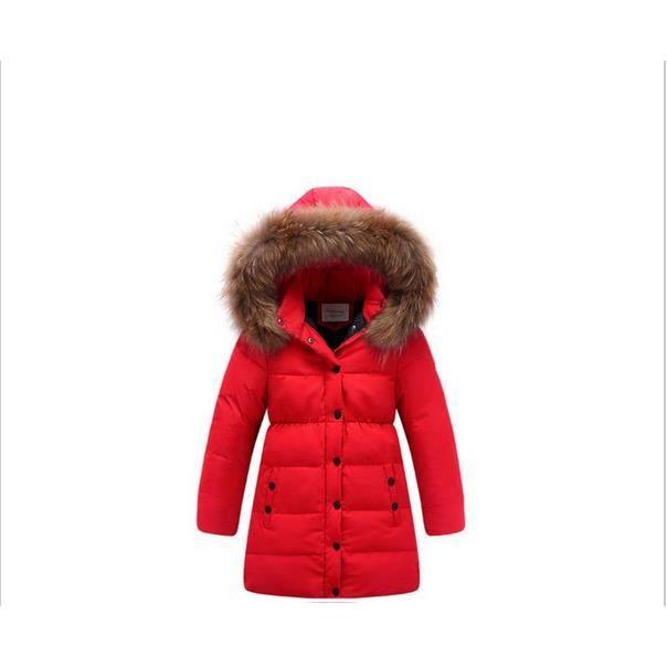 doudoune manteau fille 80 duvet de canard blanc capuche bordee fourrure impermeable taille 8. Black Bedroom Furniture Sets. Home Design Ideas