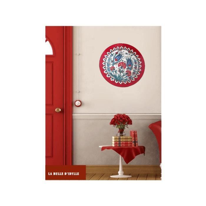 Assiette home d co tulipe et rouge achat vente for Decoration murale rouge