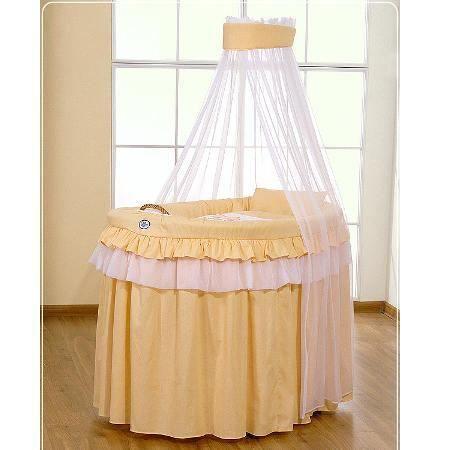 Berceau b b en osier complet avec textile p che achat vente berceau et s - Berceau bebe cdiscount ...
