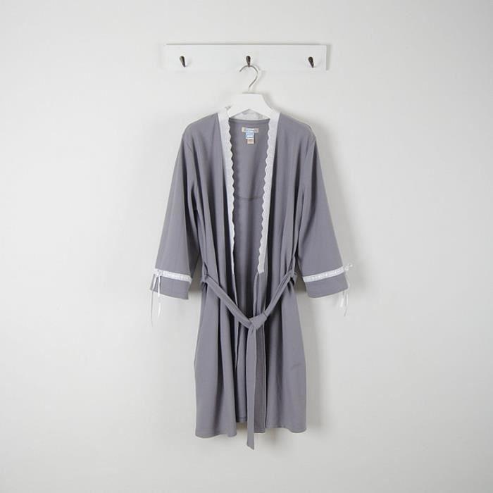 peignoir femme gris achat vente peignoir cdiscount. Black Bedroom Furniture Sets. Home Design Ideas