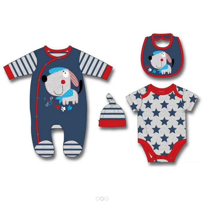 ensemble cadeau de naissance neuf bebe garcon pyjama velours body bonnet bavoir bleu achat. Black Bedroom Furniture Sets. Home Design Ideas