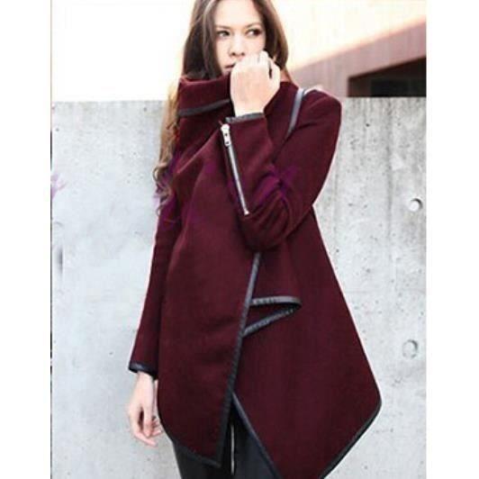 2016 manteaux hiver blousons cachemire trenchs rouge achat vente manteau caban. Black Bedroom Furniture Sets. Home Design Ideas