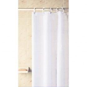 Rideau de douche vinyle blanc 180x180 cm achat vente rideau de douche plastique - Rideau de douche 180x180 ...