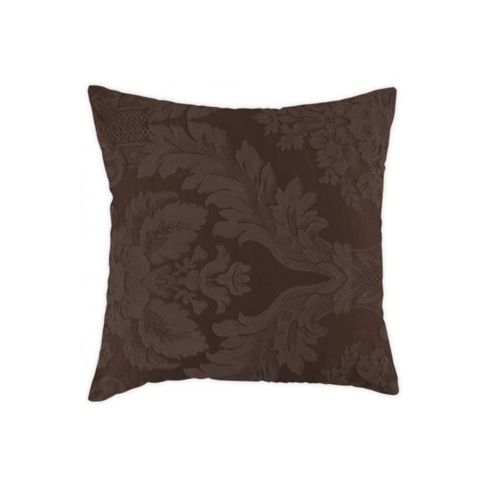 coussin 40x40 cm carr chocolat achat vente coussin. Black Bedroom Furniture Sets. Home Design Ideas