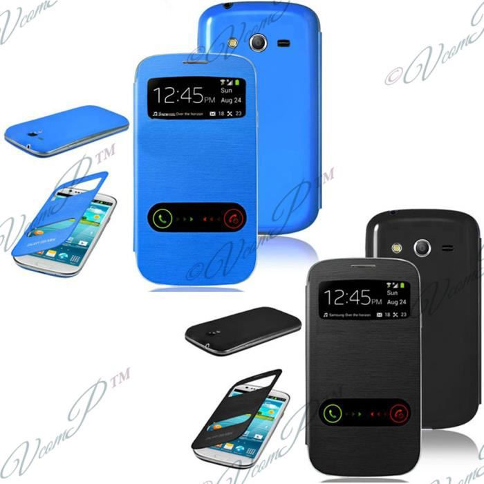 telephonie accessoires portable gsm lot  etui view case samsung galaxy trend lite f vco