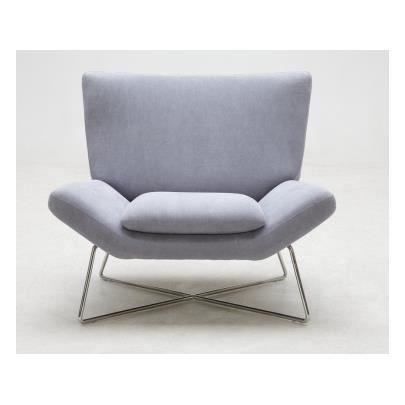 Fauteuil en tissu carmina gris achat vente fauteuil rouge soldes cd - Fauteuil tissus gris ...