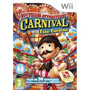 JEUX WII CARNIVAL Nouvelles Attractions / jeu console Wii