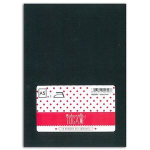 MLLE TOGA Tissu jeans thermocollant - A5 - noir