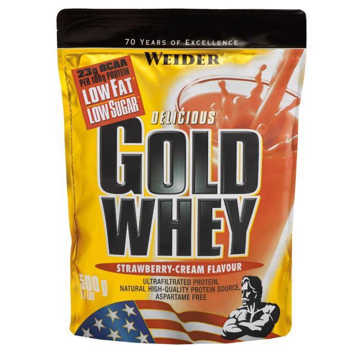 PRODUIT DE SÈCHE WEIDER GOLD WHEY Fraise 500 g NTT
